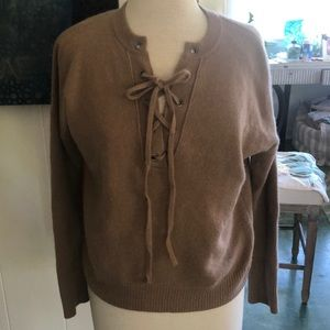 360 cashmere rocky Barnes sexy lace up sweater xs